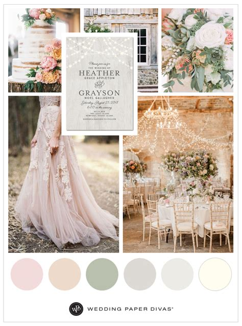 wedding color palettes blush wedding color ideas and palettes shutterfly