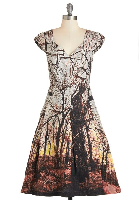 trees dress tracy reese through the trees dress mod retro vintage