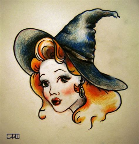 traditional pinup tattoo witch this would be awesome as a pinup