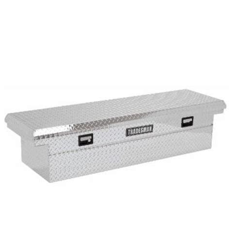 lund 70 in aluminum cross bed truck tool box 111001t