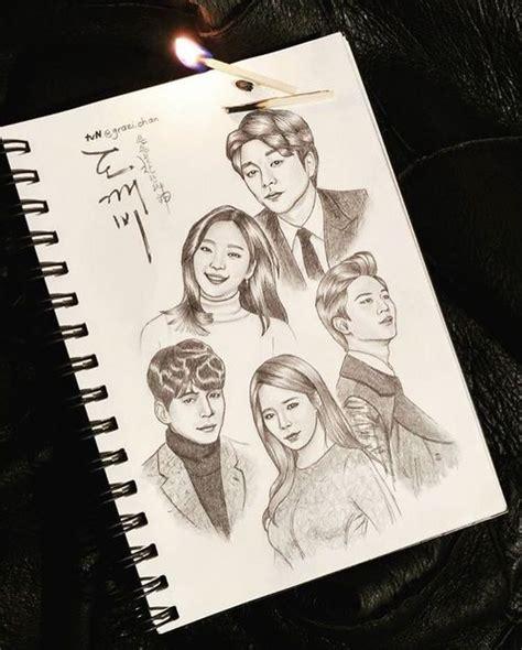 Sketches K Drama by 267 Best K Pop K Variety K Drama Fanart Images On