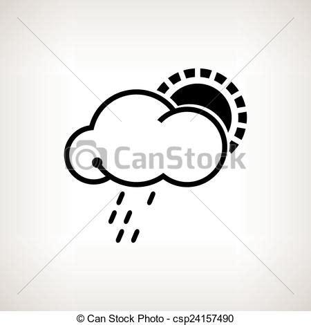 clipart pioggia silhouette sole illustrazione vettore nube pioggia