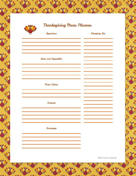 organize your holiday menu planner laura s crafty life