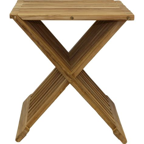 Teak Wood Stool by New Teak Wood Folding Stool Bench Shower Sauna Seat Ebay