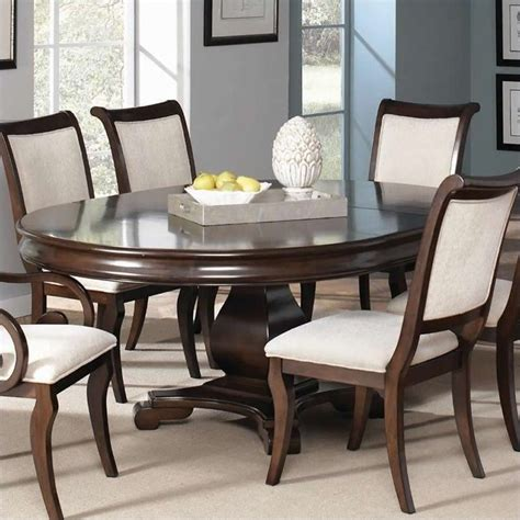 coaster kitchen table coaster harris single pedestal dining table in cherry 104111