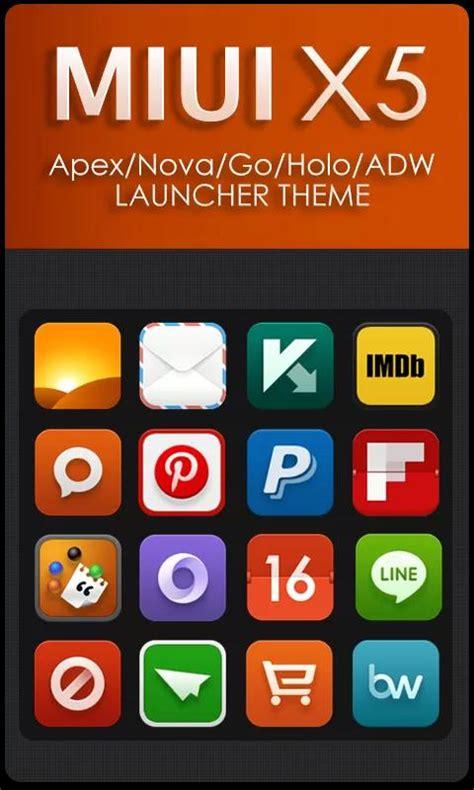 miui theme go launcher top android apps miui x5 hd apex nova adw theme v1 9