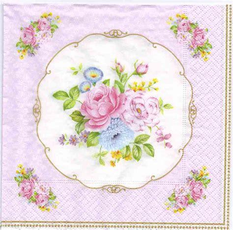 Napkin Decoupage - 4 decoupage napkins vintage bouquet napkins