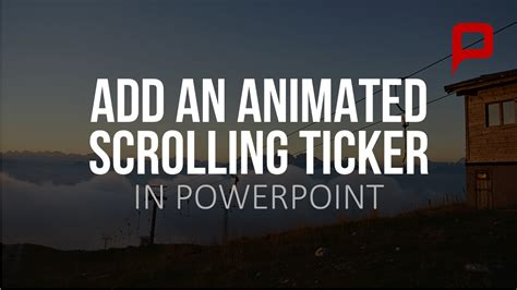 Powerpoint Scrolling Text Tutorial Add A Scrolling Ticker To Your Powerpoint