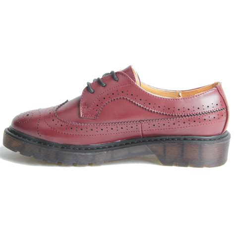 platform oxford shoes womens chunky platform sole lace up oxford brogue shoes