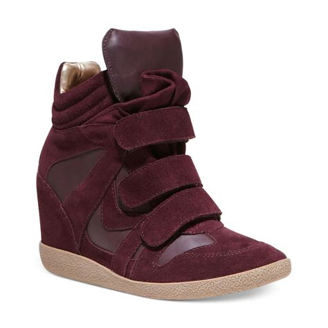 sneaker wedges steve madden steve madden hilight wedge sneakers in purple burgundy
