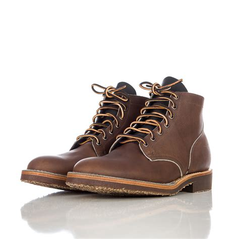 viberg boots viberg x notre coffee pack service boot in coffee