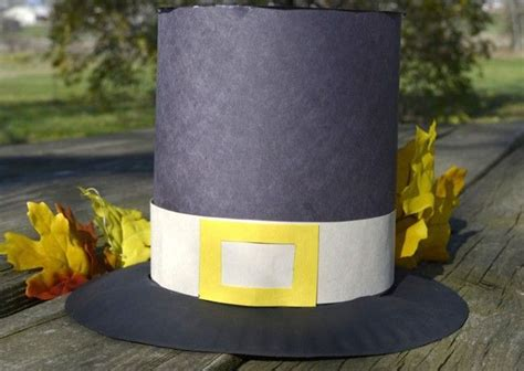 How To Make A Pilgrim Hat Out Of Construction Paper - pilgrim hat diy craft crafts hat crafts and paper