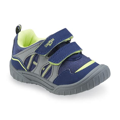 boys athletic shoes oshkosh toddler boy s zula blue gray athletic shoe shoes