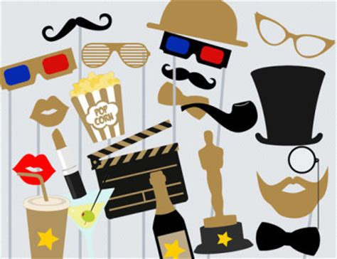 free printable movie themed photo booth props hollywood themed birthday party ideas birthday party