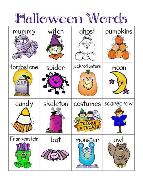 halloween themed words halloween words mat for the writing center