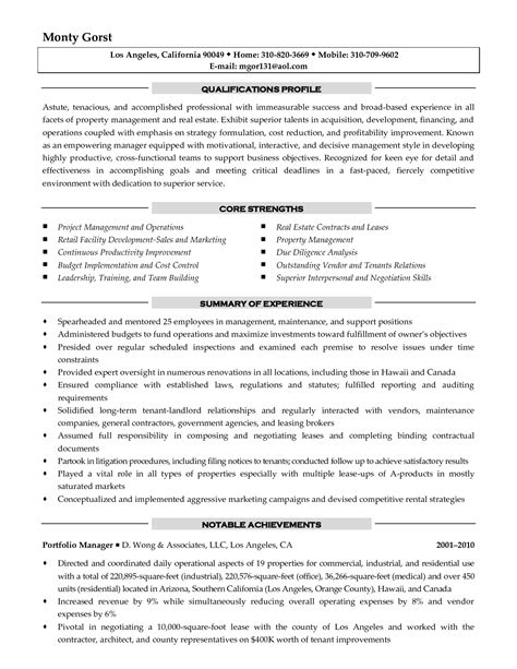 Cover Letter For Property Management Position by Apartment Property Manager Resume Resume Ideas