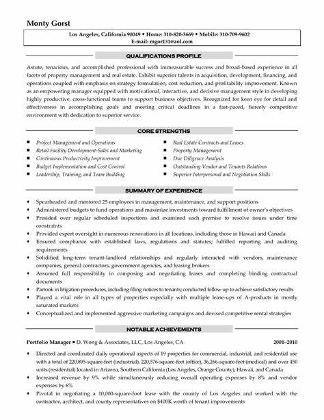 Apartment Property Manager Resume Ideas
