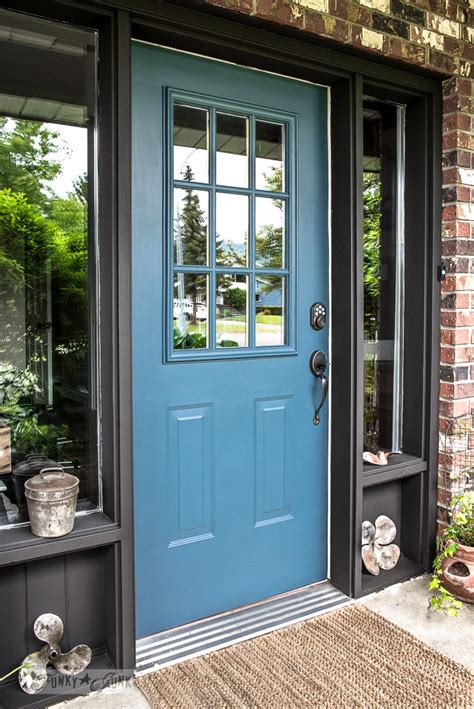 how to paint a front door industrial front door redo with painting tipsfunky junk