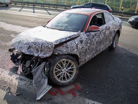 bmw 2 series prototype crash autobahn 1 images bmw 2