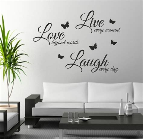 wall lettering stickers live laugh wall sticker quote wall decor wall decal words butterflies in wall stickers
