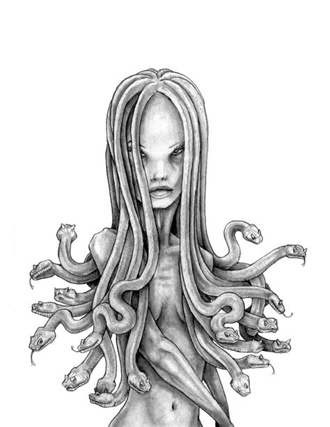 medusa sketch by degefors on deviantart