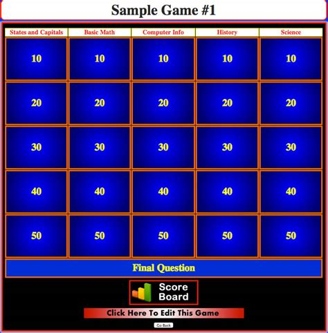 How To Create Jeopardy Game Themelloadd How To Make Powerpoint Jeopardy