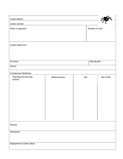 lesson plan template ks1 the ofsted lesson plan by blackfriary teaching