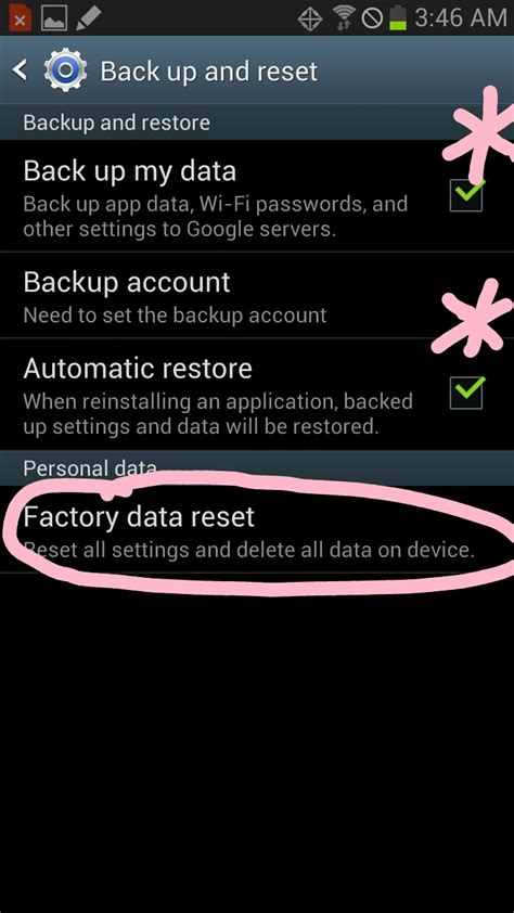 reset android keep files how to factory reset samsung galaxy s3 and galaxy note 2