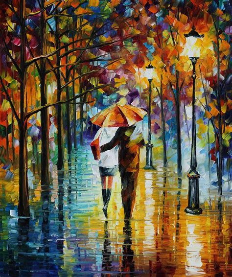 art 5 176 constituci 211 under the red umbrella palette knife oil painting on