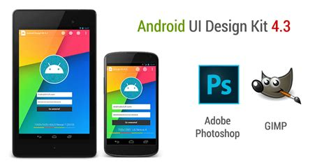 android layout design in photoshop android ui design kit for photoshop and gimp freebies