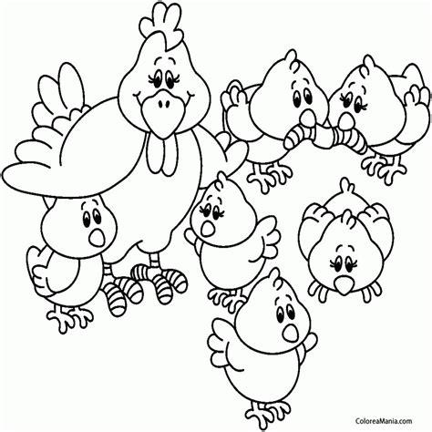 imagenes de animales de granja para colorear colorear gallinas con sus pollitos animales de granja