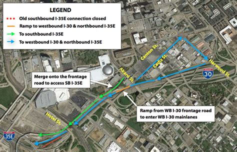 dallas texas traffic map reminder for drivers leaving downtown dallas dallas city news