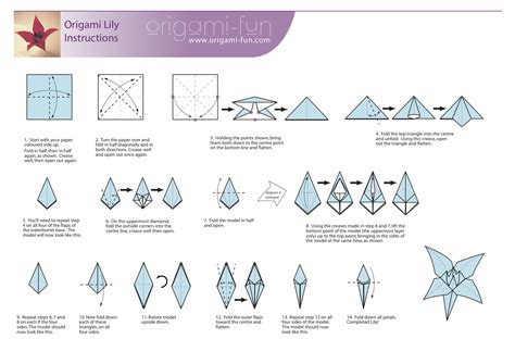 Origami Lilly - origami flowers origami how to