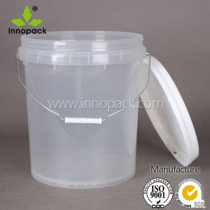 Ember Pail 1 25 Gallons china transparent clear food grade 20l plastic with