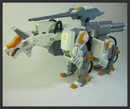 Zoid Papercraft - zoids command wolf cerberus ver 2 free paper model