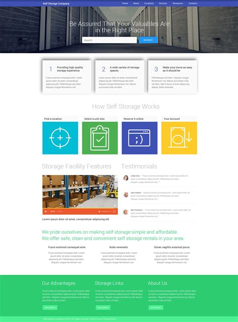 Facility Services Website Template Best Community Website Templates