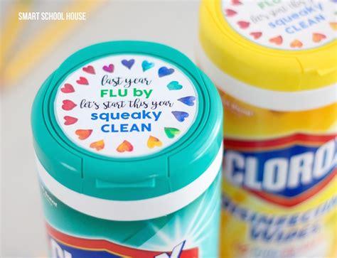 clorox wipes teacher gift tag smart school house