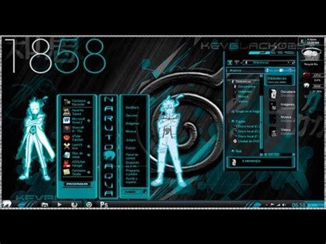 themes naruto kyubi windows 7 tema de uchiha itachi para windows 7 doovi