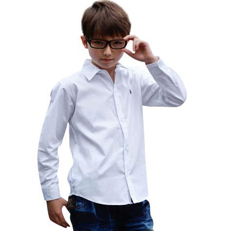 boy shirt children clothing cotton boy shirt sleeve big boy