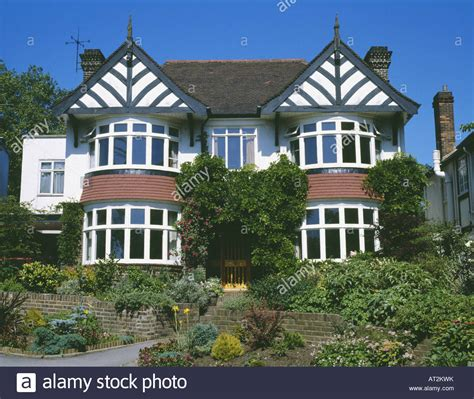 house with bay windows pictures double fronted detached thirties house with bay windows stock photo royalty free