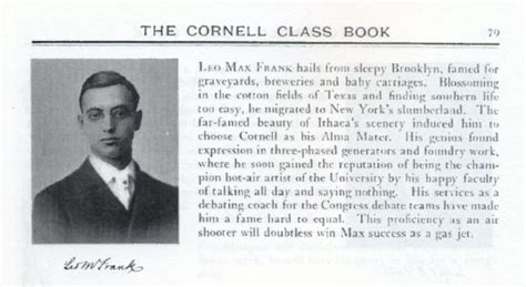 biography yearbook within the four hour long unsworn leo max frank murder
