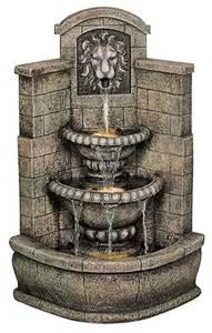 Regal Kitchen Pro Collection saint remy lion corner fountain mediterranean outdoor
