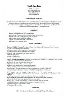 exle resume restaurant owner