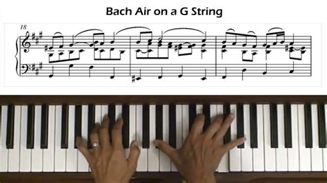 bach air on the g string piano tutorial bach air on a g string piano tutorial at tempo level 5
