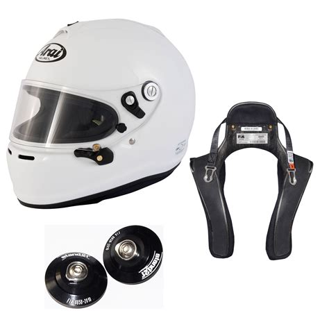 Arai Gp 6s arai gp 6s helmet hans device package autosport