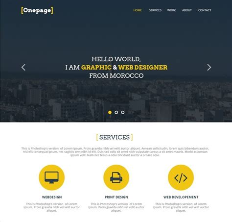 27 Professional Free Psd Website Templates Portfolio Web Page Template
