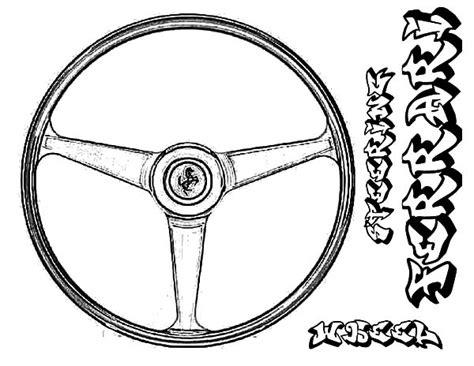 car wheel coloring page car parts steering wheel coloring pages car parts