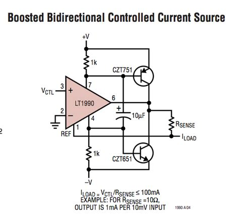 current controlled resistor bidirectional current source electrical engineering stack exchange