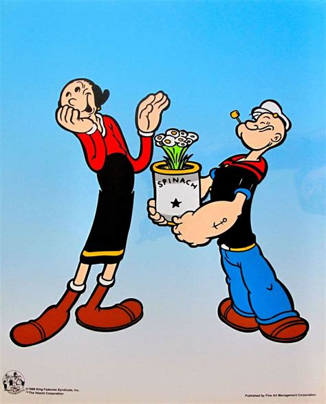 Popeye L by Popeye Olive With Spinach Bouquet Animation Cel