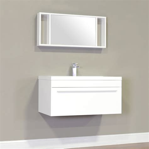 Modern Bathroom Vanities For Less Ripley 36 In Single Wall Mount Modern Bathroom Vanity In White Without Mirror